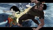 White Tiger kicks Kraven