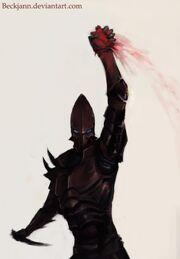 Dark eldar bloodied claw by beckjann-d41z0p5