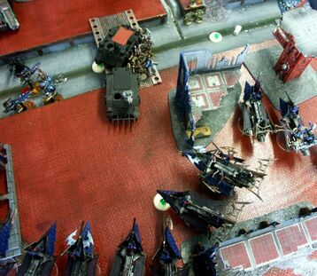 97647 md-Battle Report, Chaos Space Marines, Dark Eldar, De, Rtt, Space Marines