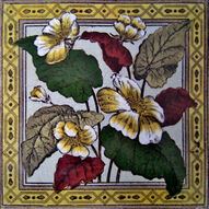 FLORAL TILE SHERWIN AND COTTON 1884