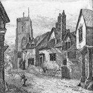 The West Gate Warwick greyscale