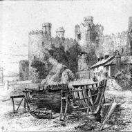 Conway Castle greyscale