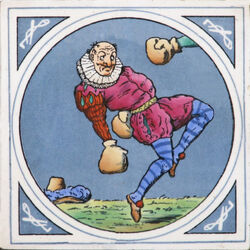 Minton Hollins & Co - Humourous Sporting Scenes - Boxing - 8inch