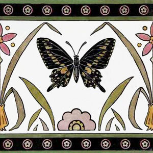 Butterfly Frieze Tile