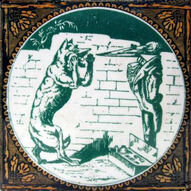Aesops Fables - The Wolf and The Stork - Minton Hollins