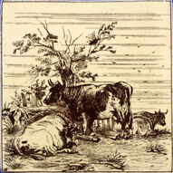 Farm Animals - Three Cows
