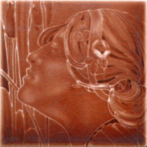 Art nouveau female head - J&W Wade