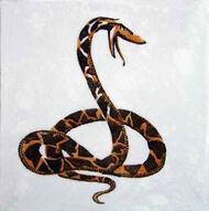 Snake Dunsmore Tiles Polly Brace c1930 Minton Blank