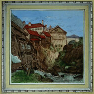 Villaqe of Splugen, The Alps 8in