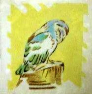 Owl Dunsmore Tiles Polly Brace c1930 Minton Blank
