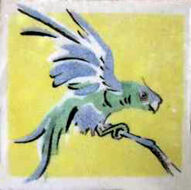 Parrot Dunsmore Tiles Polly Brace c1930 Minton Blank