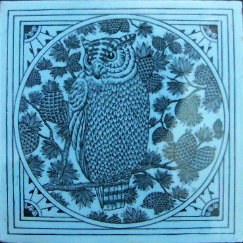 Owl - Minton Hollins | The Decorated Tile Wiki | FANDOM powered by Wikia