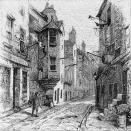 Cardinal Beaton's House, Edinburgh greyscale