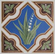 Minton Glazed Encaustic Tile 56
