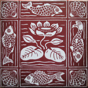 Water Lily Lustre Tile - Maw & Co