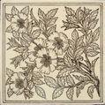 Minton Hollins Aesthetic botanical print tile
