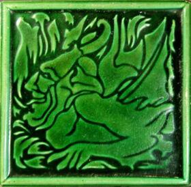 Voysey Self portrait - JC Edwards green