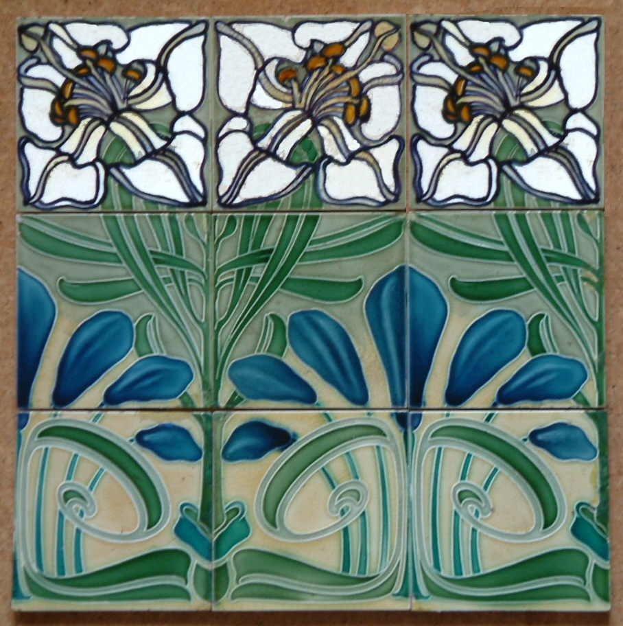 Jugendstil 9 tile panel villeroy boch the decorated tile dscf0170 dailygadgetfo Gallery
