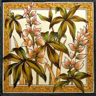FLOWER TILE c1885 by SHERWIN & COTTON