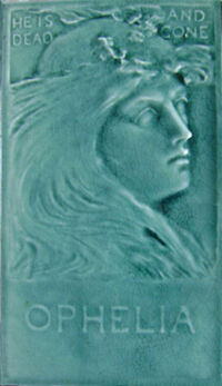 Low Art Tile - Shakespeare - Orphelia
