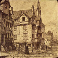 Old Edinburgh John Knox's House Nether Bow
