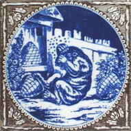 Aesops Fables - The Bear and The Beehives - Minton Hollins - blue