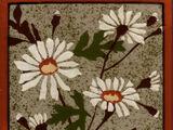 Stencilled Slip Floral Tiles -Wedgwood