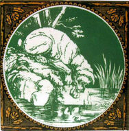 Aesops Fables - The Dog and The Shadow - Minton Hollins