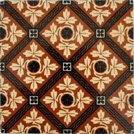 Minton Hollins & Co 6in Glazed encaustic tile