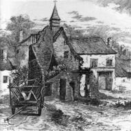 Ruins of Hougomont, Belgium geyscale