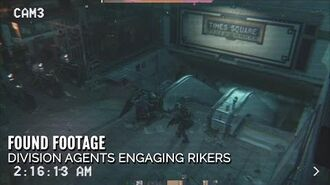 The Division - Found footage Division Agents engaging Rikers (HD)