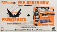 Pre Order - The Division 2