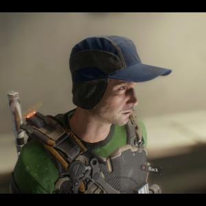 Blue Flap Cap