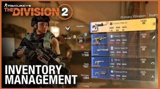 Tom Clancy's The Division 2 Tips & Tricks Inventory Management Ubisoft NA