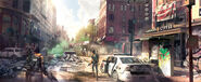 Downtown concept art - The Division 2