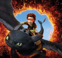AHHHHHH! Ziccup is riding toothless!!!