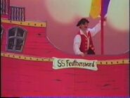 Captain Feathersword on the SS Feathersword