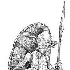 A white webfoot goblin