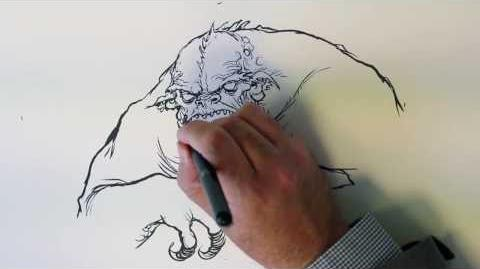 Illustration of the Nameless One by Chris Riddell