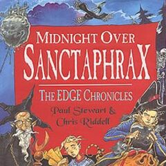 <i>Midnight over Sanctaphrax</i> UK hardcover.