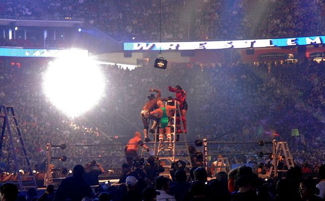 File:Professional wrestling ladder match.jpg