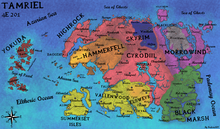 Geopolitical map of tamriel in 4e201 english by fredoric1001-d6wclgg