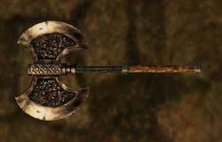 Steel Battle Axe - Morrowind