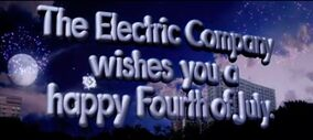 THe electric company wishes you a happy fourth of july