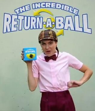The incredible return a ball comershal seen a origanal
