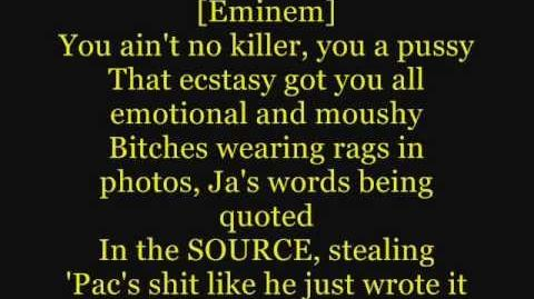 Eminem - Hail Mary ft. 50 Cent, Busta Rhymes (Lyrics On Screen) (Ja Rule Diss))
