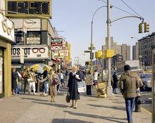 City streets 1980s