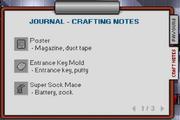 Screenshot Journal Crafting Notes