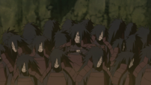 Madara creates twenty-five wood clones