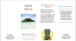 Wikia Island Brochure 1